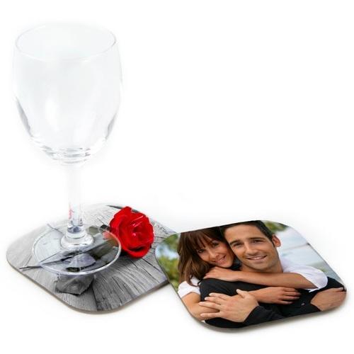 sous verre carr personnalis avec votre photo en bois avec dos li ge 9 5cm x 9 5 cm ol 39 optic. Black Bedroom Furniture Sets. Home Design Ideas