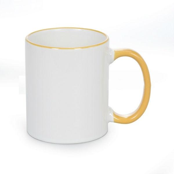 mug poign e et rebord color s photo personnalis e couleur jaune dor ol 39 optic studio ol9703. Black Bedroom Furniture Sets. Home Design Ideas