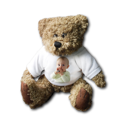 ours en peluche teddy bear avec votre photo ol 39 optic. Black Bedroom Furniture Sets. Home Design Ideas