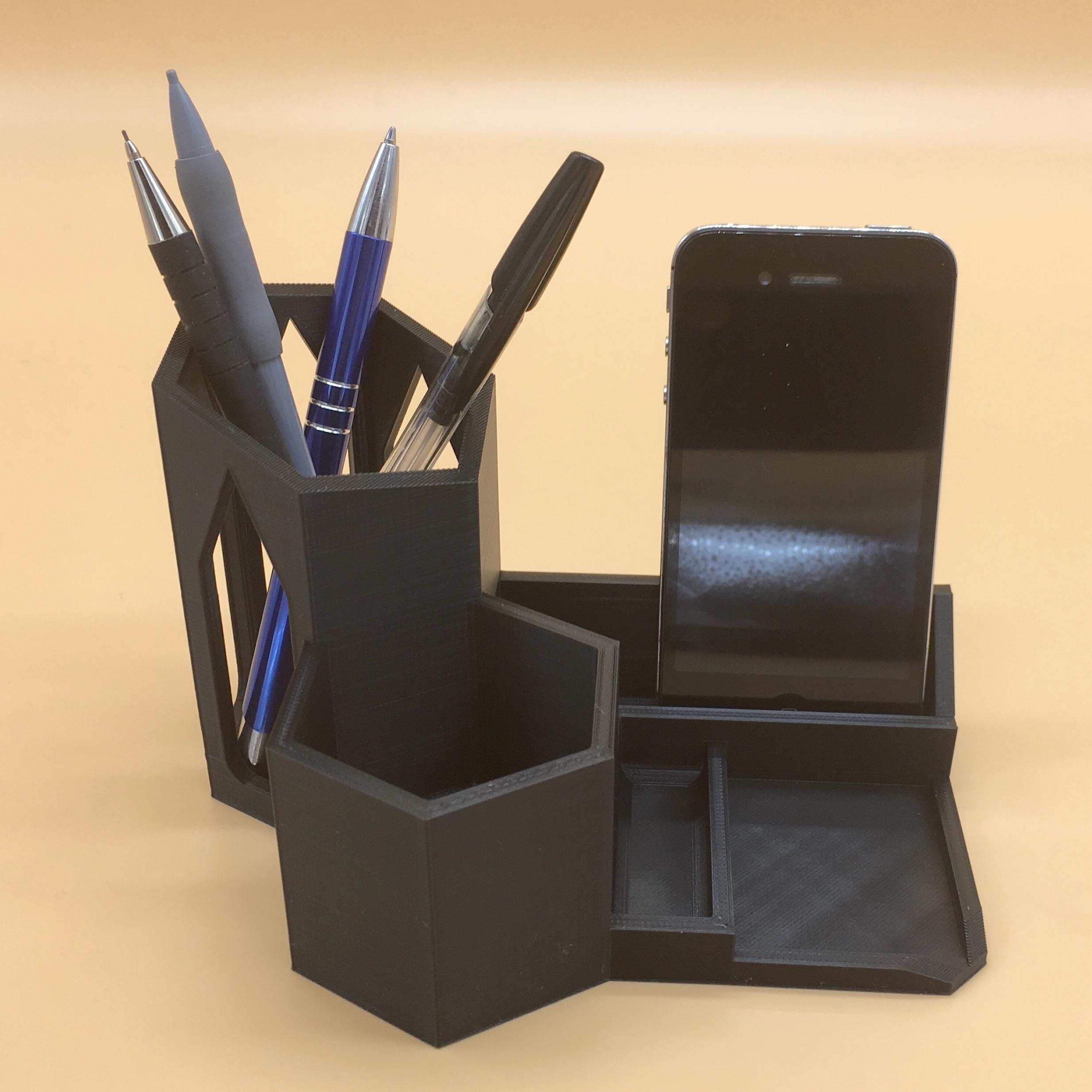 Porte Organizer Impression Pot 3d À Desk Crayons wX0O8knP